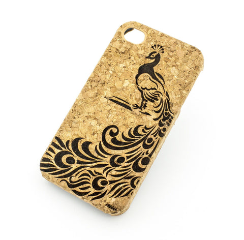 Cork Case Snap On Cover - LA FLEUR PEACOCK