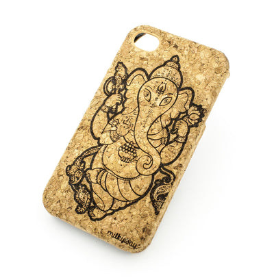 Cork Case Snap On Cover - SRI MAHA GANAPATI - Milkyway Cases -  iPhone - Samsung - Clear Cut Silicone Phone Case Cover