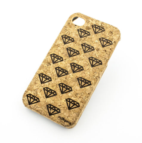 Cork Case Snap On Cover  - DIAMOND LIFE