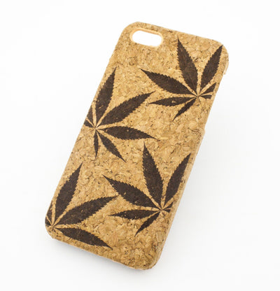 Cork Case Snap On Cover - PLANT LIFE - Milkyway Cases -  iPhone - Samsung - Clear Cut Silicone Phone Case Cover
