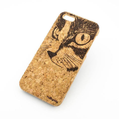 Cork Case Snap On Cover - CAT EYES