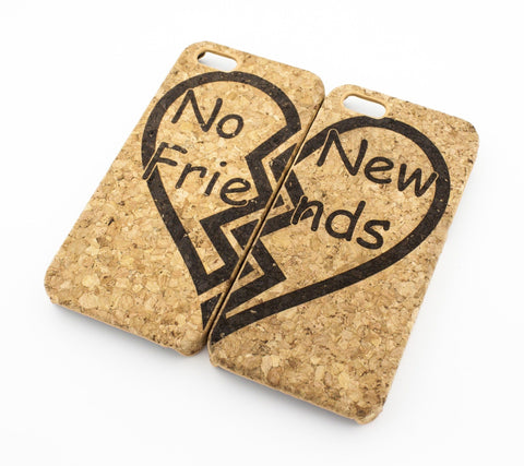 Cork Case Snap On Cover - (MATCHING CASE) NO NEW FRIENDS - BEST FRIENDS FOREVER