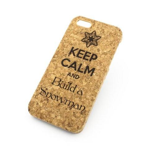 Cork Case Snap On Cover - KEEP CALM AND BUILD A SNOWMAN