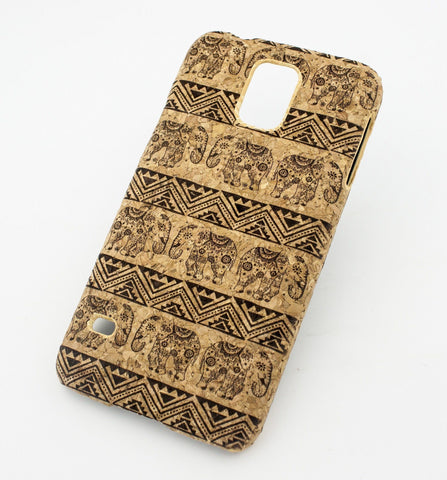 Cork Case Snap On Cover  - AZTEC LOTUS ELEPHANT