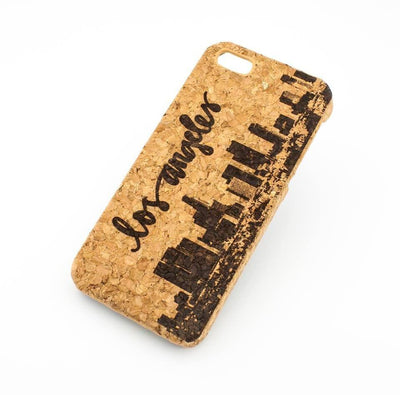 Cork Case Snap On Cover - LOS ANGELES SKYLINE - Milkyway Cases -  iPhone - Samsung - Clear Cute Silicone Phone Case Cover