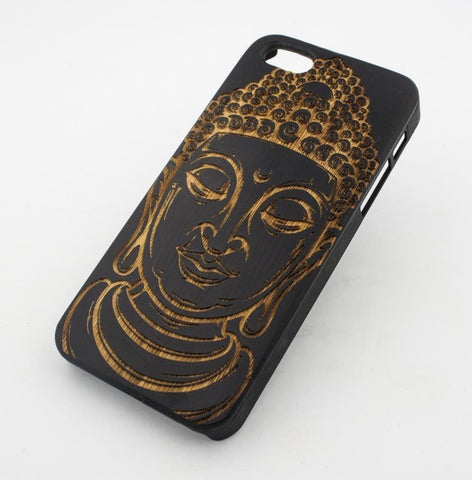 Black Bamboo Wood Case - Thai Buddha