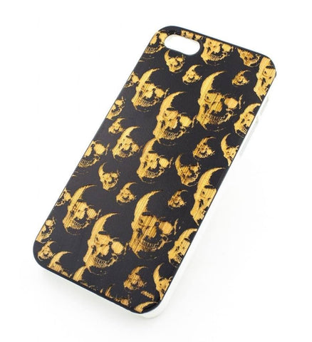 Black Bamboo Wood Cover - Skulls