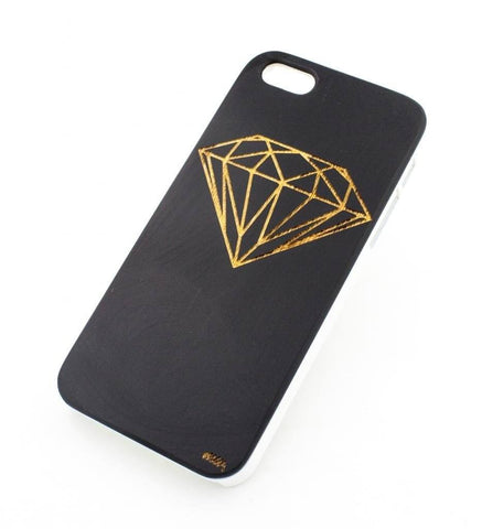 Black Bamboo Wood Cover - Diamond