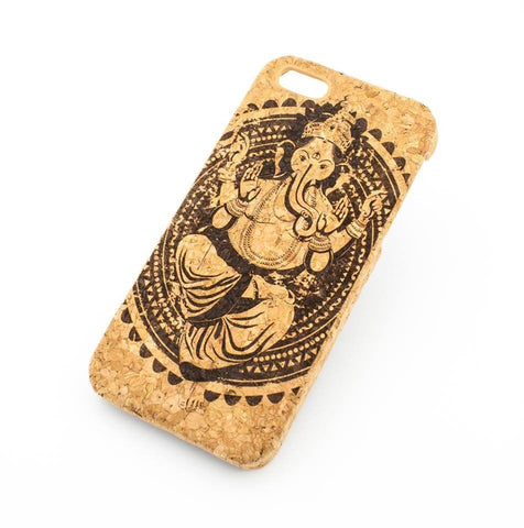 Cork Case Snap On Cover - GANESH KING (Hindu god)