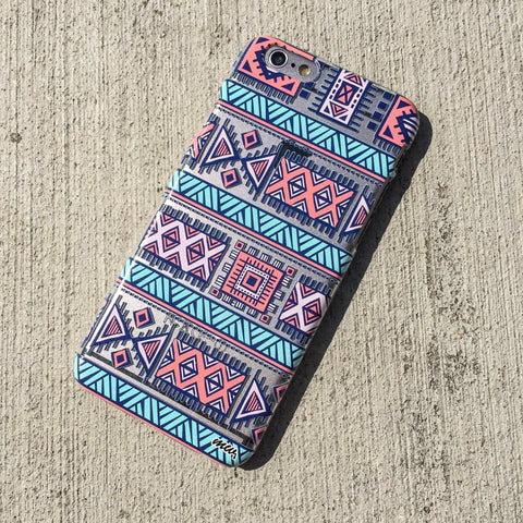 Colored Aztec 1 - Clear TPU Case Cover