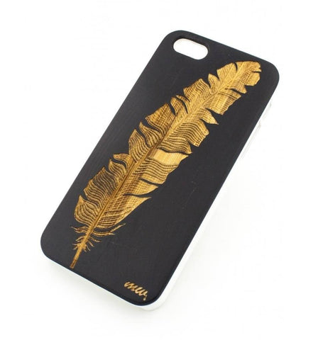 Black Bamboo Wood Cover - Feather