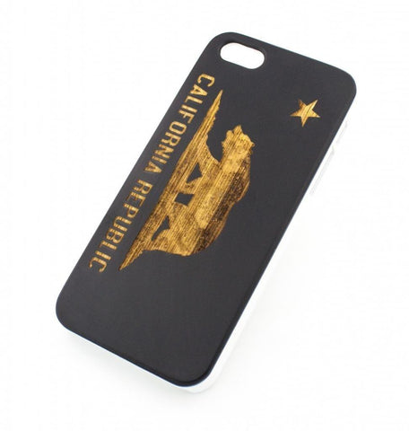 Black Bamboo Wood Case - California Republic Grizzly Bear