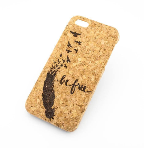 Cork Case Snap On Cover - BE FREE (SPARROW-)