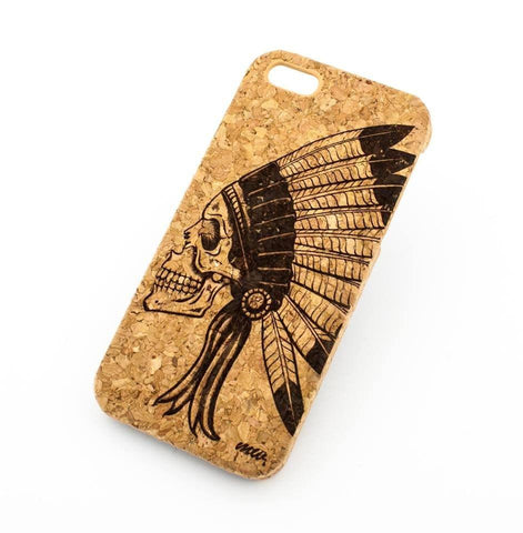 Cork Case Snap On Cover - CHIEF INDIAN AZTEC SKULL
