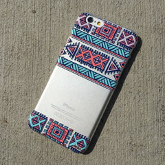 Henna Colored Aztec 3 - Clear TPU Case Cover