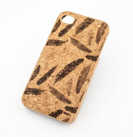 "Cork Case Snap On Cover - ""Feather Overload"" vintage bird leaves dreamcatcher tribal mayan aztec"