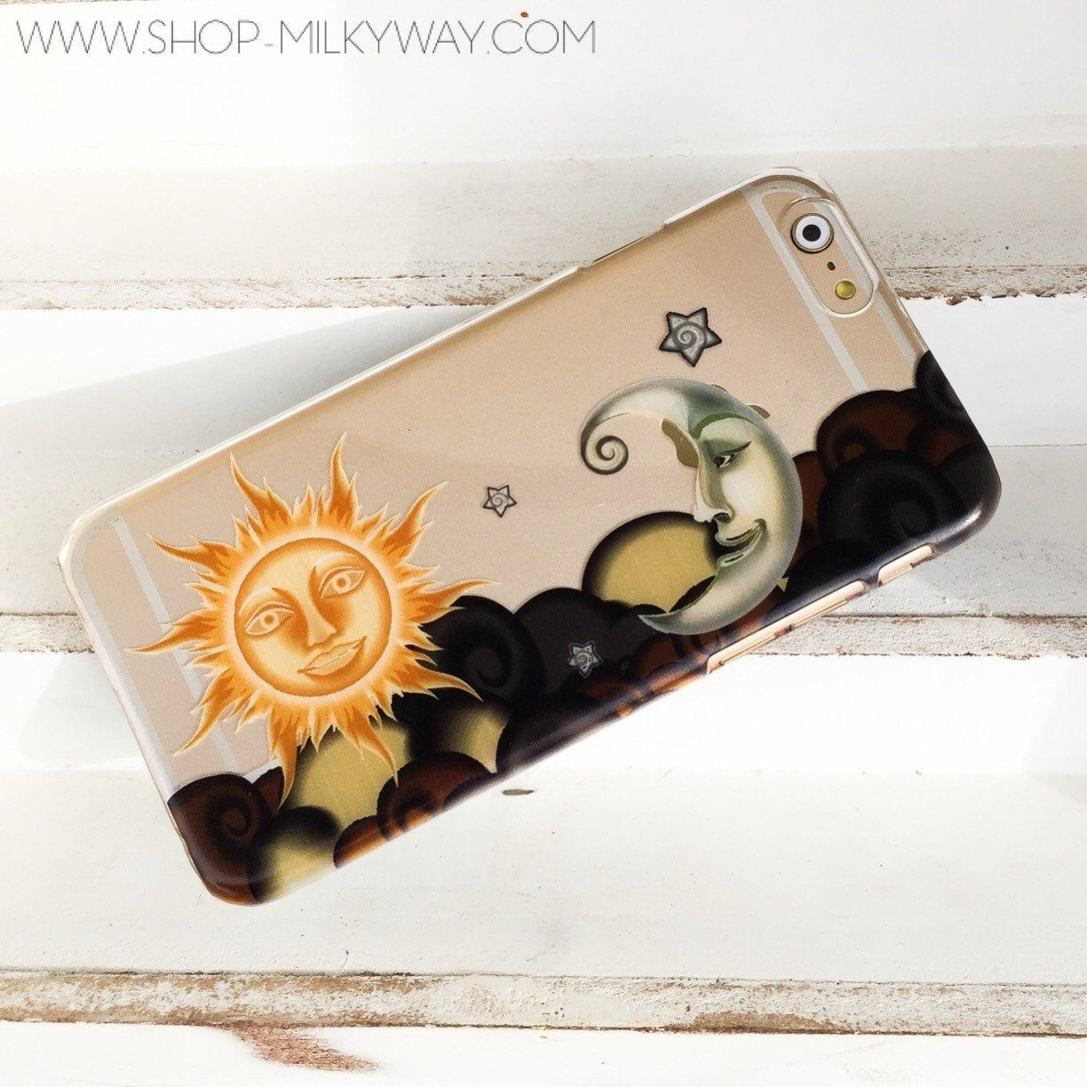 Henna Sun And Moon Clear Tpu Case Cover Milkyway