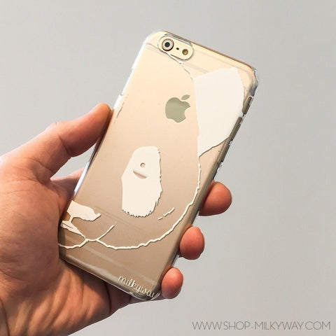 White Panda - Clear TPU Case Cover