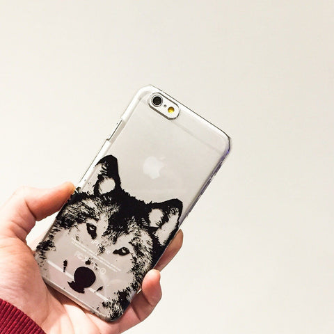 Henna Wolf - Clear TPU Case Cover