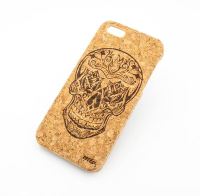 Cork Case Snap On Cover - ROSE EYES SKULL - Milkyway Cases -  iPhone - Samsung - Clear Cut Silicone Phone Case Cover