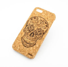 Cork Case Snap On Cover - ROSE EYES SKULL