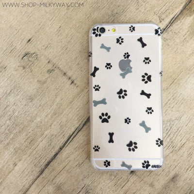 Doggy Treats - Clear TPU Case Cover - Milkyway Cases -  iPhone - Samsung - Clear Cut Silicone Phone Case Cover