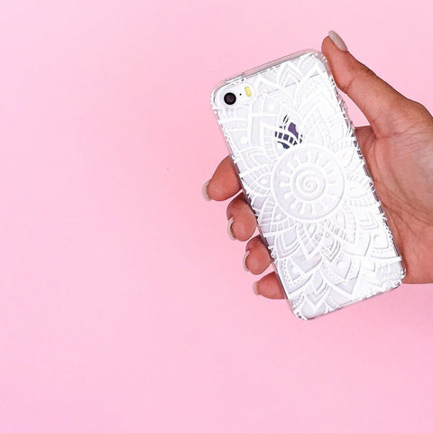 Indie Mandala Clear TPU Case Cover