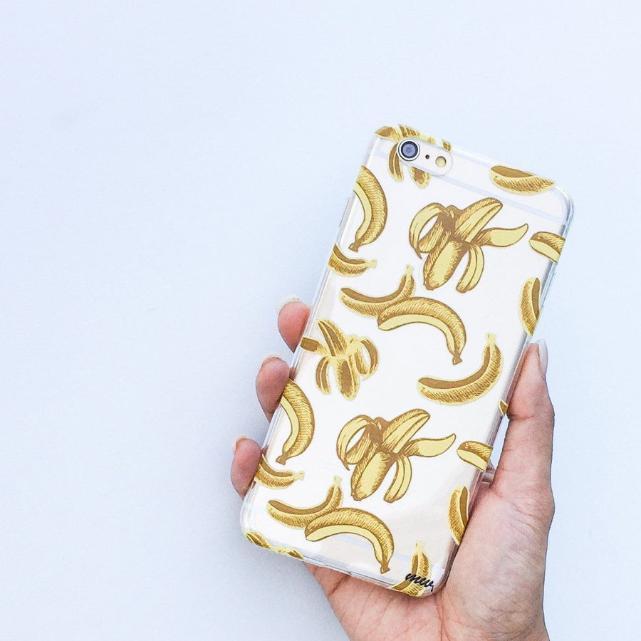 Banana Pandemonium - Clear TPU Case Cover - Milkyway Cases -  iPhone - Samsung - Clear Cut Silicone Phone Case Cover