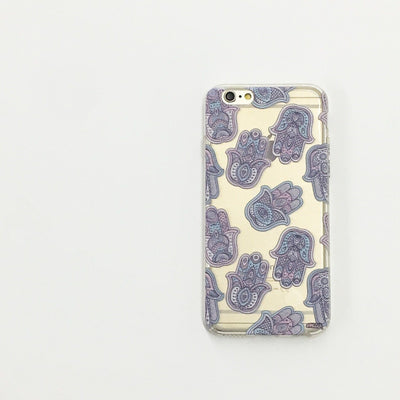 Hamsa Overload - Clear TPU Case Cover - Milkyway Cases -  iPhone - Samsung - Clear Cut Silicone Phone Case Cover