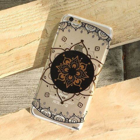 Henna Mantra Mandala - Clear TPU Case Cover