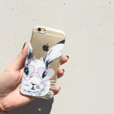 Beverly Hills Bunny - Clear TPU Case Cover