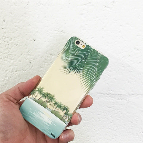 Tropical Beach - Clear TPU Case Cover
