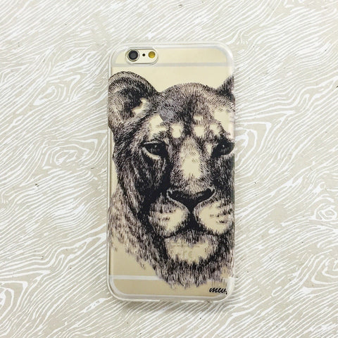 Lioness - Clear TPU Case Cover
