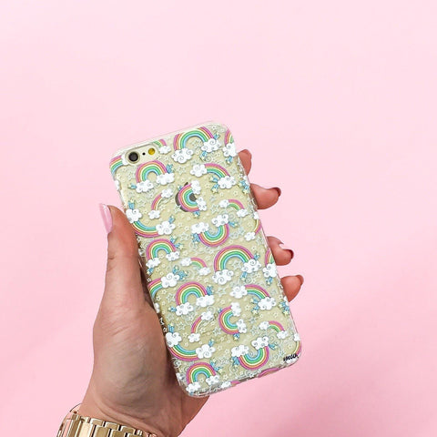 Super Rainbow - Clear TPU Case Cover