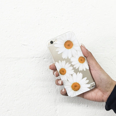It's Daisies - Clear TPU Case Cover - Milkyway Cases -  iPhone - Samsung - Clear Cut Silicone Phone Case Cover