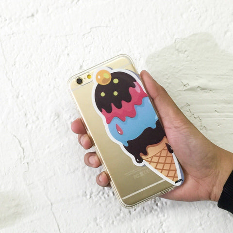 Summertime Ice Cream - Clear TPU Case Cover