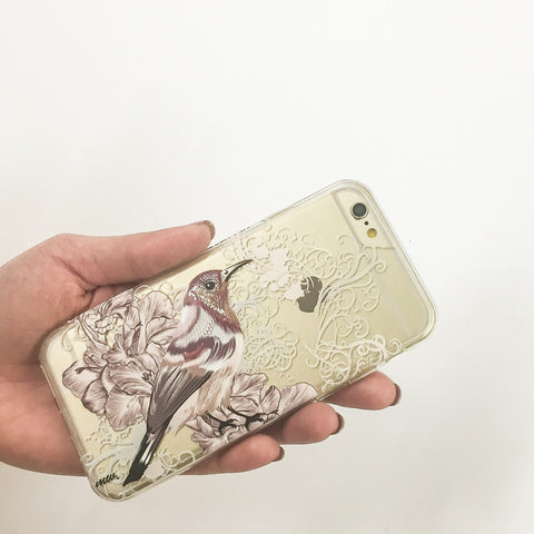 Vintage Sparrow - Clear TPU Case Cover
