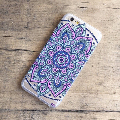 Dakota Mandala - Clear TPU Case Cover - Milkyway Cases -  iPhone - Samsung - Clear Cut Silicone Phone Case Cover