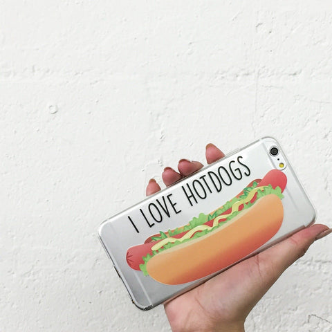 I Love Hotdogs - Clear TPU Case Cover