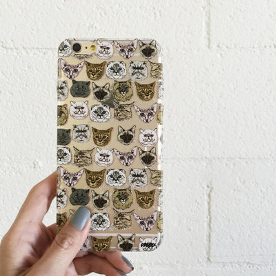 Cat Overload 2 - Clear TPU Case Cover - Milkyway Cases -  iPhone - Samsung - Clear Cut Silicone Phone Case Cover