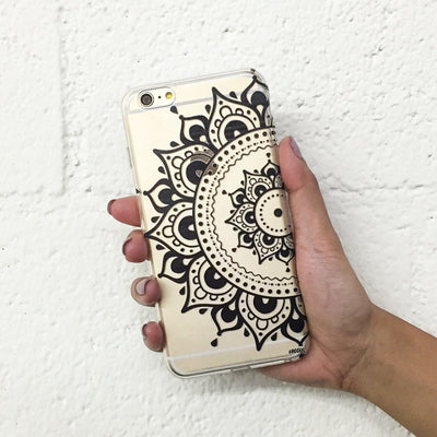 Hayley Mandala - Clear TPU Case Cover Milkyway iPhone Samsung Clear Cute Silicone 8 Plus 7 X Cover