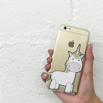 Cute Unicorn - Clear TPU Case Cover - Milkyway Cases -  iPhone - Samsung - Clear Cut Silicone Phone Case Cover