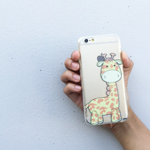 Cute Giraffe - Clear TPU Case Cover