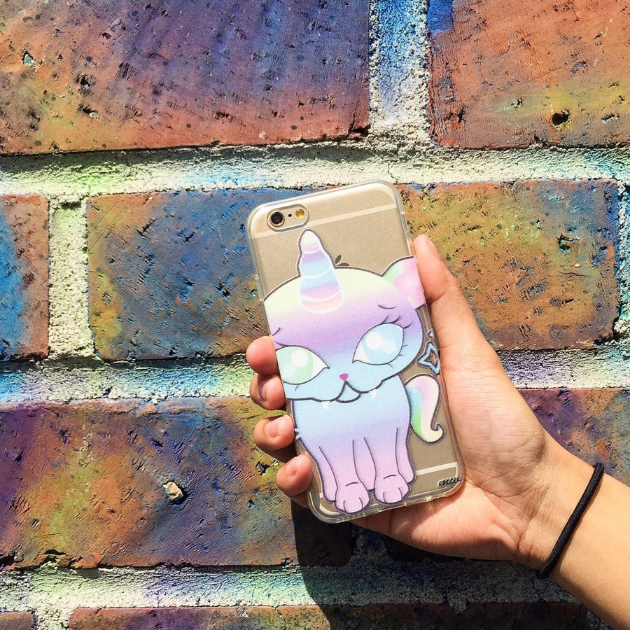 Kitty Cat Unicorn - Clear TPU Case Cover - Milkyway Cases -  iPhone - Samsung - Clear Cut Silicone Phone Case Cover