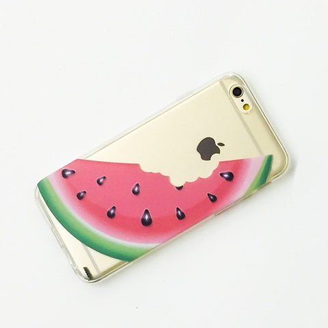 Bite My Watermelon - Clear TPU Case Cover