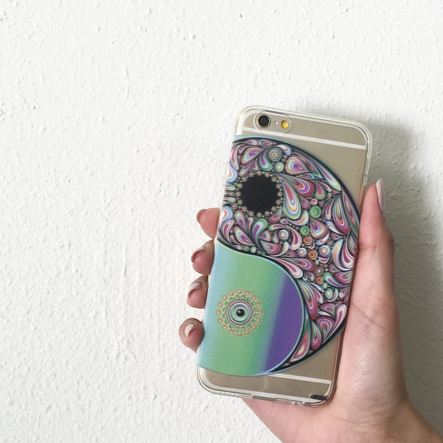 Psychedelic Yin Yang - Clear TPU Case Cover - Milkyway Cases -  iPhone - Samsung - Clear Cut Silicone Phone Case Cover