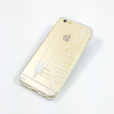 Dream Bigger - Clear TPU Case Cover - Milkyway Cases -  iPhone - Samsung - Clear Cut Silicone Phone Case Cover