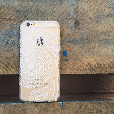 Acrilan Henna Paisley - Clear TPU Case Cover