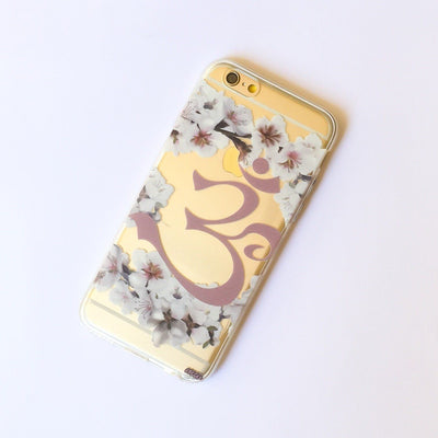Floral Ohm - Clear TPU Case Cover - Milkyway Cases -  iPhone - Samsung - Clear Cut Silicone Phone Case Cover