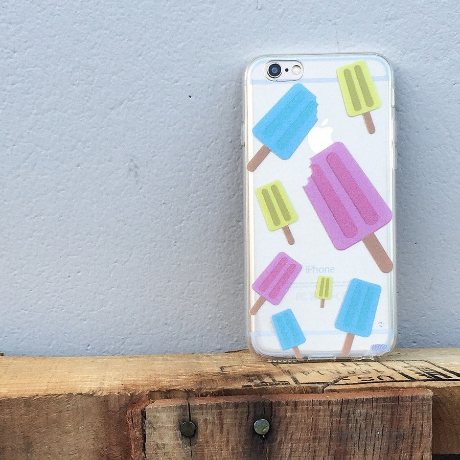 Popsicles - Clear TPU Case Cover - Milkyway Cases -  iPhone - Samsung - Clear Cut Silicone Phone Case Cover